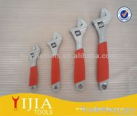 Red soft cushion grip adjustable wrench