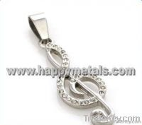 newest style stainless steel jewelry musical note pendants