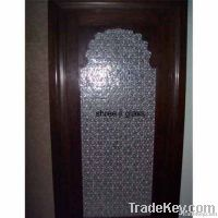 geomatrical glass panel