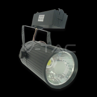 30W LED Track Light COB - Black Body White
