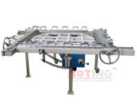 Stainless steel vibrating screen stretching machine