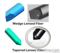 Lensed fiber