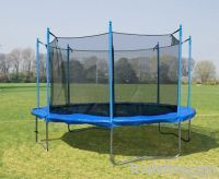 TRMPOLINE with Safety outside enclosure net for outdoor  play(Factory made direct sale 12 Feet big)
