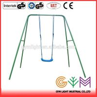 Metal Swing set with two swing bed Factory made CE standard