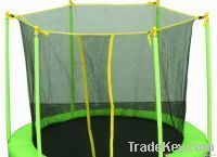 TRAMPOLINE with inside net and Green color (8 Feet Foldable)