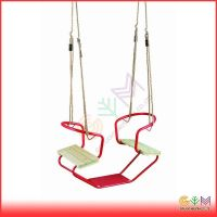 Metal swing accessory wooden rope ladder for kids