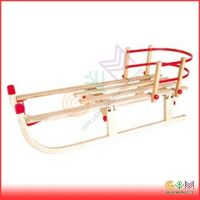 Foldable Wooden snow sledge with backrest (2015)