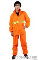 high quality yellow pvc roadways rainsuit for sanitation workers