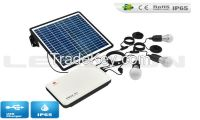 4w 5w 6w 7w LED solar home lighting system with USB solar charger