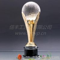 Brilliant Crystal Golf trophy