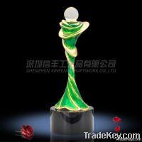 Delicate Colored Enamel Trophy