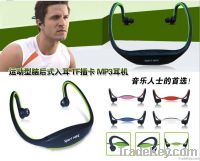 New Earphone Sports MP3 WMA Music Player Wireless Handsfree Headset Mi