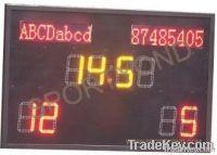 LED electronic digital football match scoreboard with soccer score board display