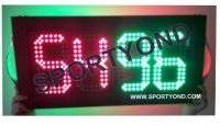 LED digital electronic football player substitute board and change players cards