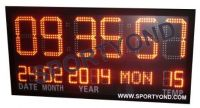 LED electronic digital clock board with temperature and time display