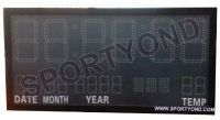 Time boards,LED electronic digital clock card with temperature panel display