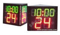 Three faces Basketball shot clock with game time for 3 sided shot clocks and period timing display