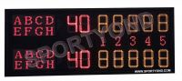 Electronic digital tennis scoreboard with tennis scores led display