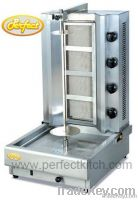 Gas Doner Kebab Machine with 4 Burners