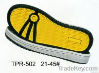 TPR outsoles of skate shoes