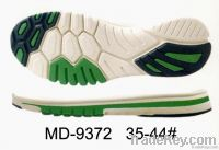 Model soles of sports shoes