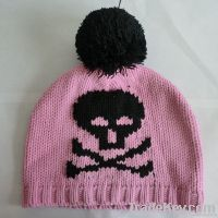 Beautiful pink beanie skull hat
