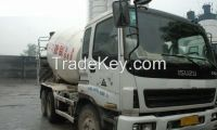 used ISUZU 10 m3 concrete mixer