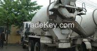 used ISUZU concrete mixer
