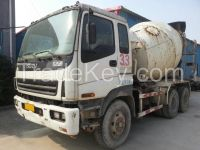 concrete mixer, used ISUZU 10 m3.