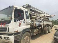 used ZOOMLION 37 m concrete pump
