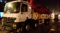 used SANY 37 m concrete pump,VOLVO truck.