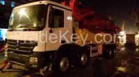 used SANY 48 m concrete pump,VOLVO truck.