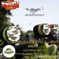 Hot wholesale cree t6 u2 Waterproof LED bicycle light