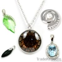 925 sterling silver gemstone pendants