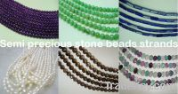 semi precious stone beads strands