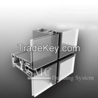 Aluminium Alloy/Structural Steel Exposed Framing Glass Curtain Wall