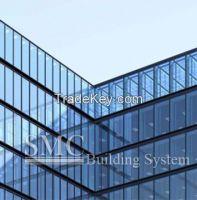 Semi-exposed Framing Glass Curtain Wall