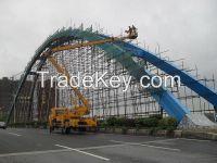 Steel Bridge - Steel Box Arch & Wind Brace