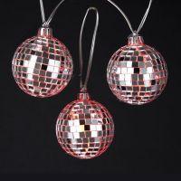 8cm silver glass mirror flash christmas ball snooker reflective decoration ball