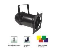 Party lighting Black / Chorme Par cans par64 Long nose - stage lighting fitting