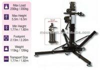 Shenzhen mounteck top seller 200kg heavy duty elevator tower/aluminum lifting tower/ 6.5 height truss lifting tower