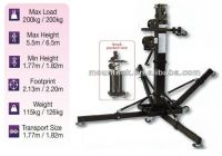 Disco lighting dj truss system elevator lifting tower 200kg heavy duty speaker tower lift with wheel easy to set up,height 6.5m