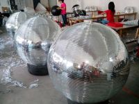 Diameter 120cm 48inch outdoor mirror ball ornaments with fiberglass core inner material