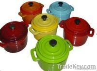 Enameled cast iron casserole