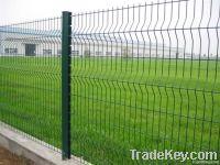 Welded mesh fence