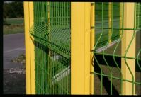 PVC welded wire mesh fence,green/yellow/red wire mesh fence