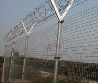 galvanized  razor barbed wire mesh fence