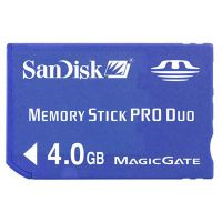 sandisk memory stick pro duo 4GB