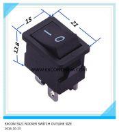ROCKER SWITCH SS21 SERIES FOR PRINTER (EXCON SWITCH)