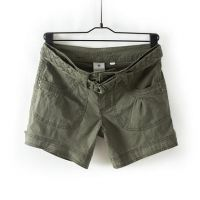 Ladies cotton cargo shorts with belt